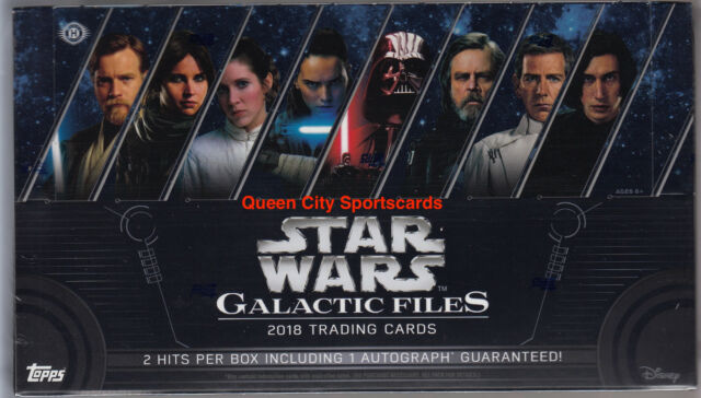 2018 Topps Star Wars Galactic Files Factory Sealed Hobby Box