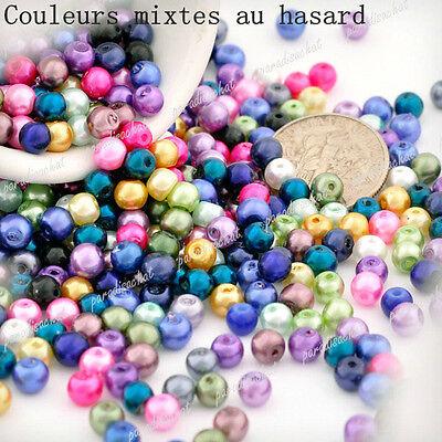 30Couleurs Perles Nacrée Verre Plexiglas Ronde 3D 3mm 4mm 6mm 8mm 10mm 12mm 14mm