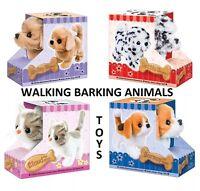 Dog Cat Beagle Plush Stuffed Animal Barking Walking Wagging Electronic Toy