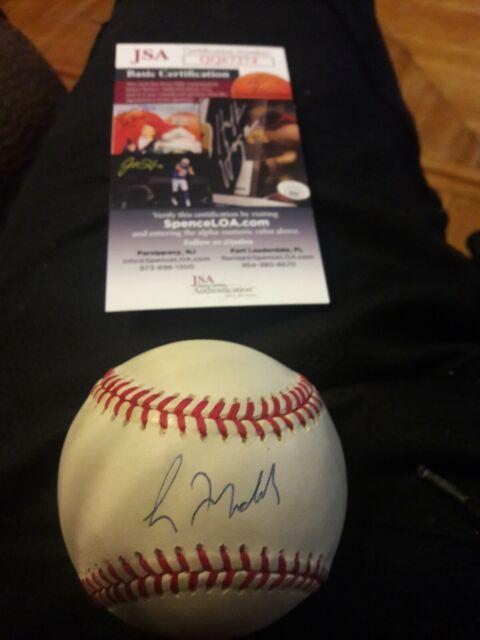 Chicago Cubs Atlanta Braves Greg Maddux Signed National League Baseball JSA COA
