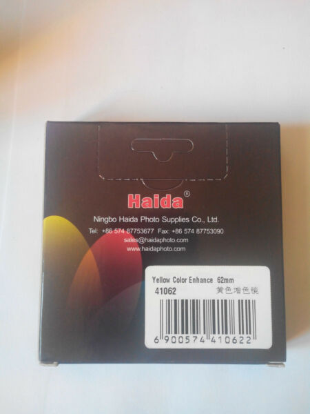 Bien New Haida Filter Filtre Yellow Color Enhance 62mm