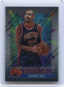 1994 95 Topps Finest 240 Grant Hill Rookie Card Rc Detroit