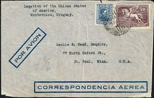 074-URUGUAY-TO-US-AIR-MAIL-COVER-1936-MONTEVIDEO-SAINT-PAUL-MN