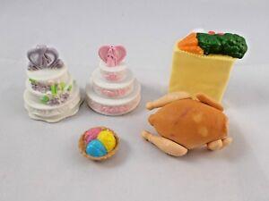 Dollhouse-Size-Wedding-Cakes-Turkey-Yarn-Groceries-Lot