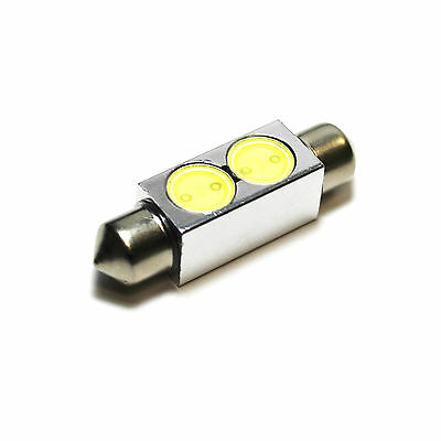 2x Bright Xenon White Superlux LED Upgrade Number Plate Licence Light Bulbs