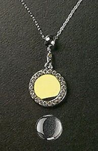 Photo-Jewelry-Crystal-Round-Necklace-amp-Pendant-Silver