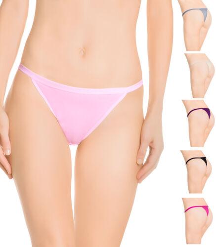 6 Women Cotton Thongs Lot String underwear G String Panties Size 9 2XL Plus Size