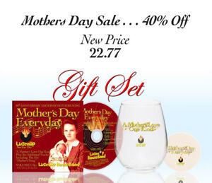 Mother-039-s-Day-Gift-Set-Jumbo-Wine-Glass-amp-4-034-Coaster-amp-Bonus-CD-Album