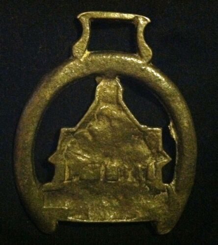 Vintage YARN MARKET Harness Brass Dunster England WOW YOUR WALLS KNITTER Gift!