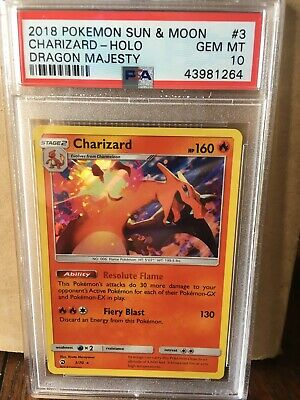Charizard 3//70 Dragon Majesty PSA 10 Gem Mint Holo Rare Pokemon Card