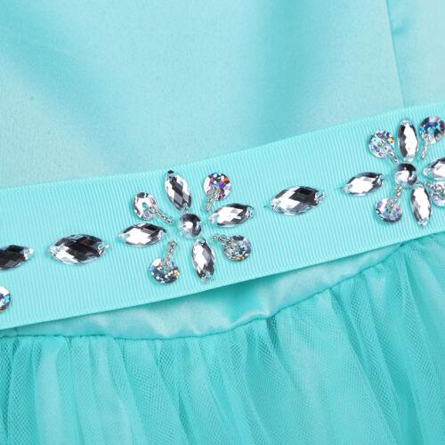 Kids Girls High-low Hem Flower Dress Pageant Princess Wedding Party Formal Wear