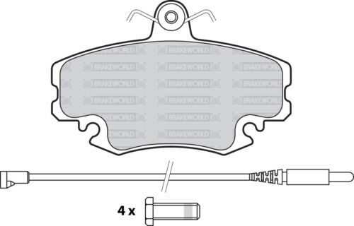 OEM SPEC FRONT DISCS AND PADS 238mm FOR RENAULT CLIO 1.2 72mm ABS RING 1998-05