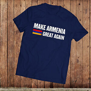 Make Armenia Great Again T Shirt Donald Trump Satire America