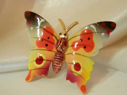 Colorful Korea Signed Vintage 70's Butterfly Ename