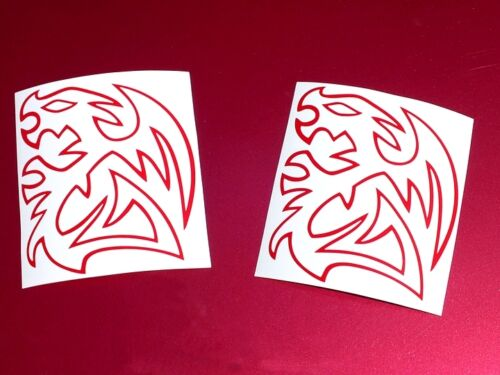 2 Thermaltake Dragons Vinyl Decal Sticker Computer Pc Laptop Case Mod