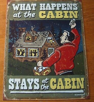 Diplomatisch What Happens At The Cabin Stays Stays At The Cabin Hunting Hunter Lodge Sign New Om Hinder Uit De Weg Te Ruimen En De Dorst Te Lessen