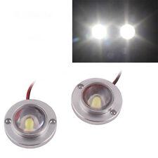 2x White Motorcycle High Power LED Strobe Flash Brake Tail Light For Suzuki Moto