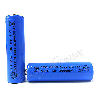 1 pcs AA Cell 3000mAh Ni-MH Rechargeable Battery Blue For CD player camera flash
