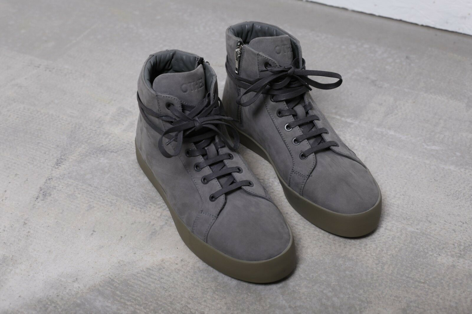 OTHER UK Grey Hi-Top Suede Sneaker Boots