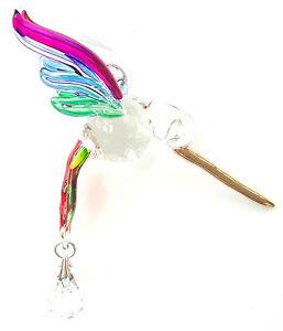 à Condition De Fantasy Verre Colibri Suncatcher Avec Cristal Swarovski - Rainbow