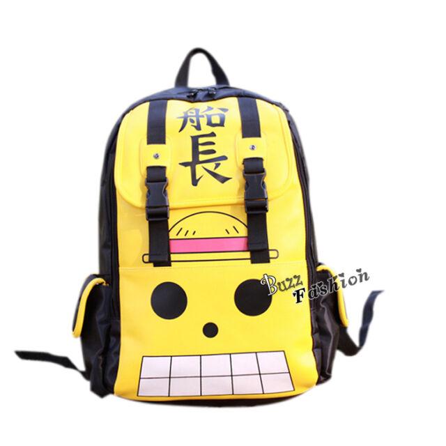ONE PIECE Cosplay Anime Design Muster Schultasche Rucksack Fashion Gelb Cartoon