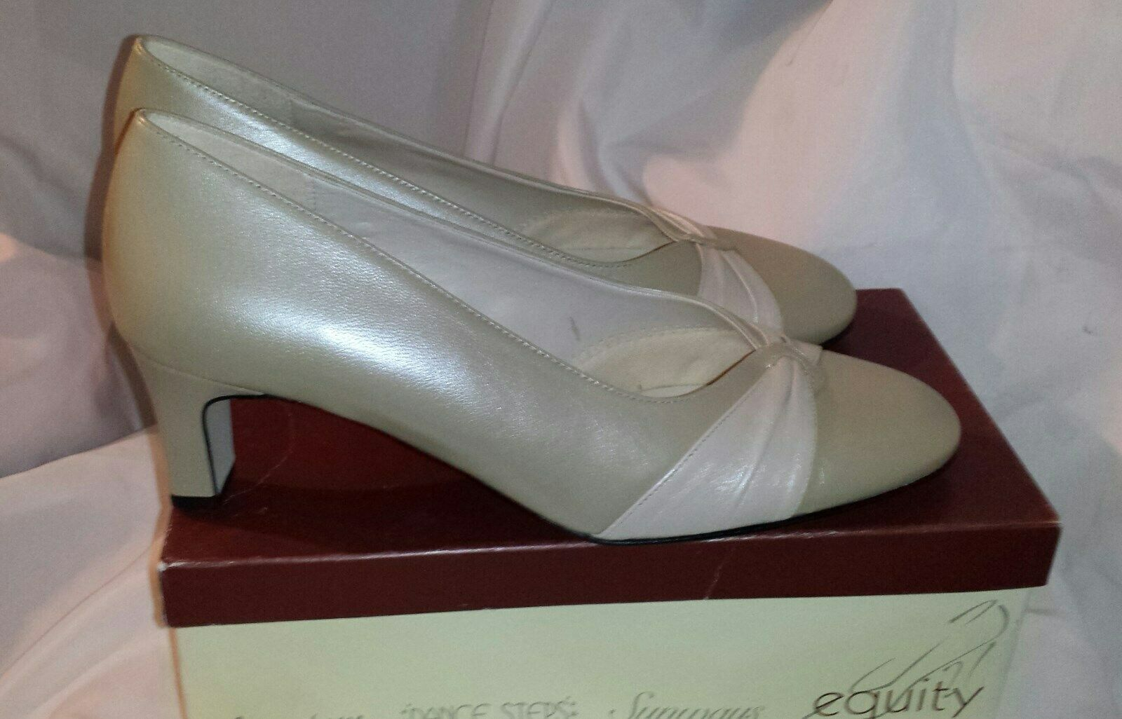 Ivory Ivory Ivory Leather 2-Tone Occasions shoes UK 8EE - EQUITY BNIB 636bc0