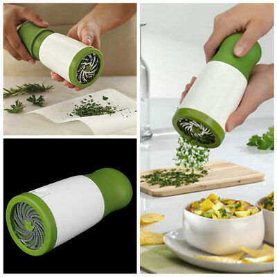 Herb Mill Chopper Cutter Mince Stainless Steel Blades Safely New EW