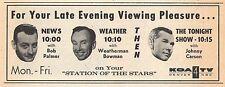 1965 KOA TV AD~WEATHERMAN ED BOWMAN~BOB PALMER~NEWS in DENVER COLORADO