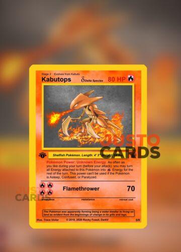 Fire Custom Pokemon Card Kabutops Delta Species Rocky Fossil