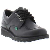 Kickers Kick Lo Mens Black Leather Shoes Size 6-11