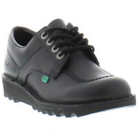 Kickers Kick Lo Mens Black Leather Shoes Size 6-11