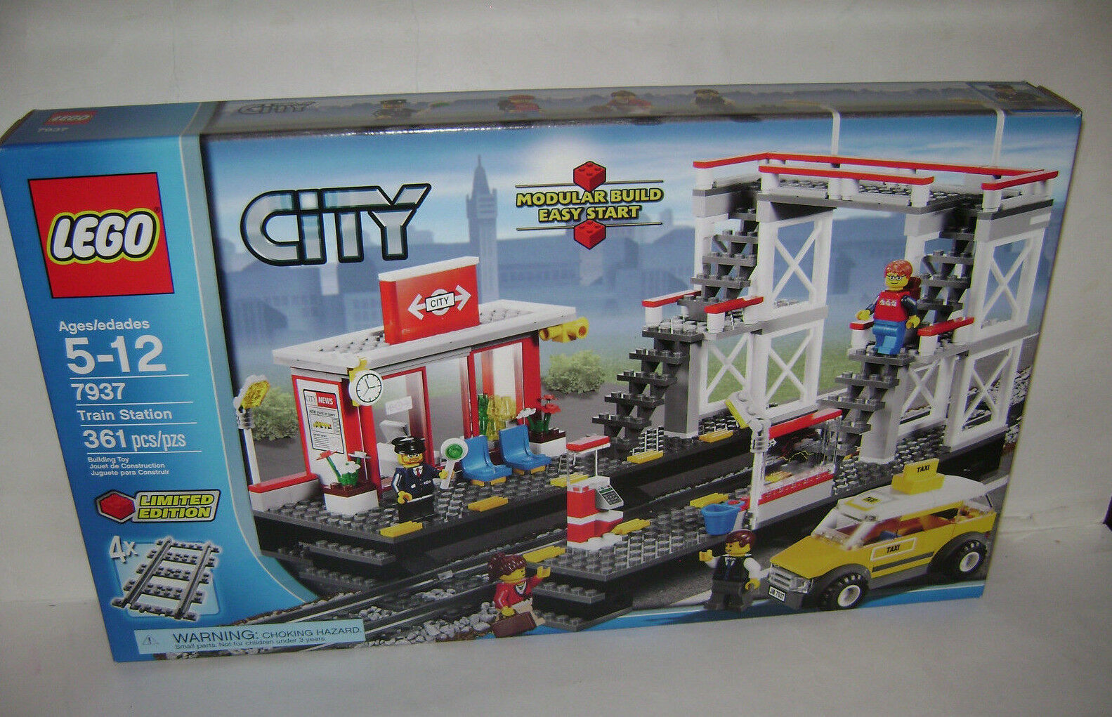 NEW 7937 Lego CITY Train Station LIMITED Building Toy SEALED BOX RETIRED RARE A