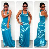 Fashion Women Summer Sleeveless Evening Party Beach Long Maxi Sundress Dress