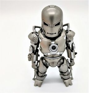 Iron-Man-Action-Figure-in-Silver-Suit-with-LED-lights-Batteries-included
