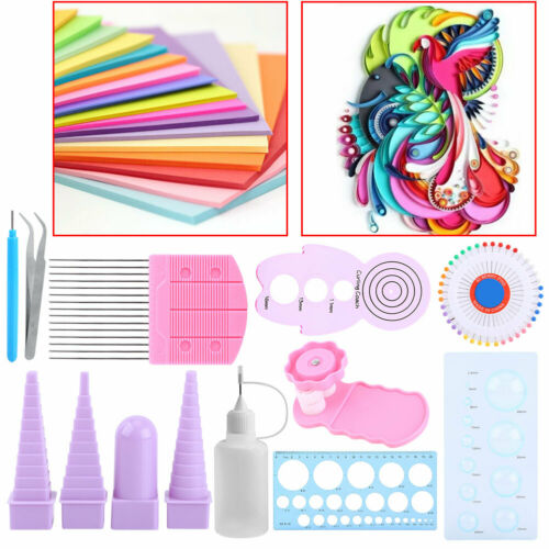 Strips Quilling Paper Tool Set Mixed DIY Handcraft Full Kit Kid Slotted Tool