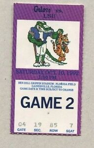 October-1992-Florida-Gators-vs-LSU-Tigers-Ben-Hill-Griffin-Stadium-Ticket-Stub