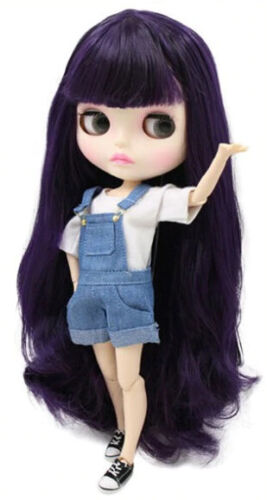 Neo Blythe Doll from Factory 12 in Jointed Body White Skin Purple Hair New Face
