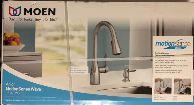 Moen Ario Motionsense Wave Kitchen Faucet - 87087EWSRS