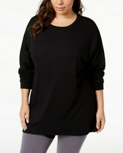 Soffe-Womens-Curves-Plus-Size-Long-Sleeve-T-Shirt-Size-1X-Black-39-99-NWT