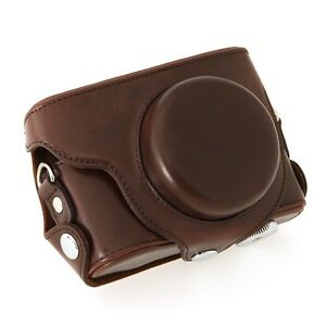 New-Leather-Camera-Bag-Case-Cover-Protectorfor-Panasonic-Lumix-DMC-LX7-Coffee-PU