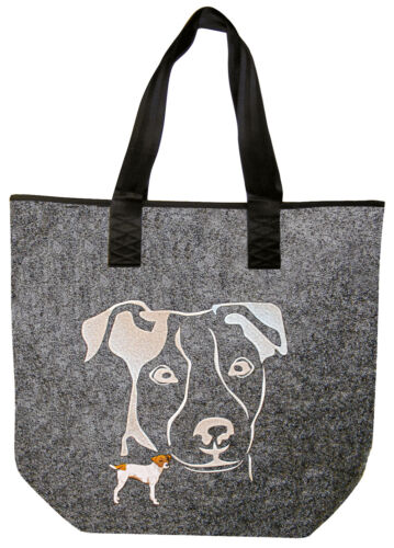 Filztasche Shopper Tasche hochwertige Stickerei • HUND JACK RUSSEL • 261XX •