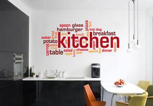 wall stickers kitchen adesivi murali colazione cucina caff negozio bar vetrina