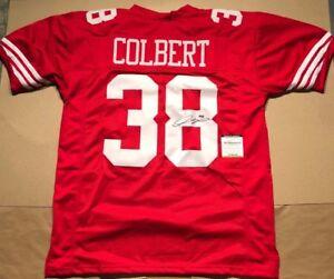 sports shoes f088e b571c Detalles acerca de * Adrian Colbert * signo/autógrafo San Francisco 49ers  Rojo Jersey (TSE cert. de autenticidad)- mostrar título original