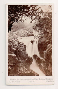 Vintage-CDV-Rumbling-Bridge-Falls-Dunkeld-Scotland-G-W-Wilson-Phot-Aberdeen