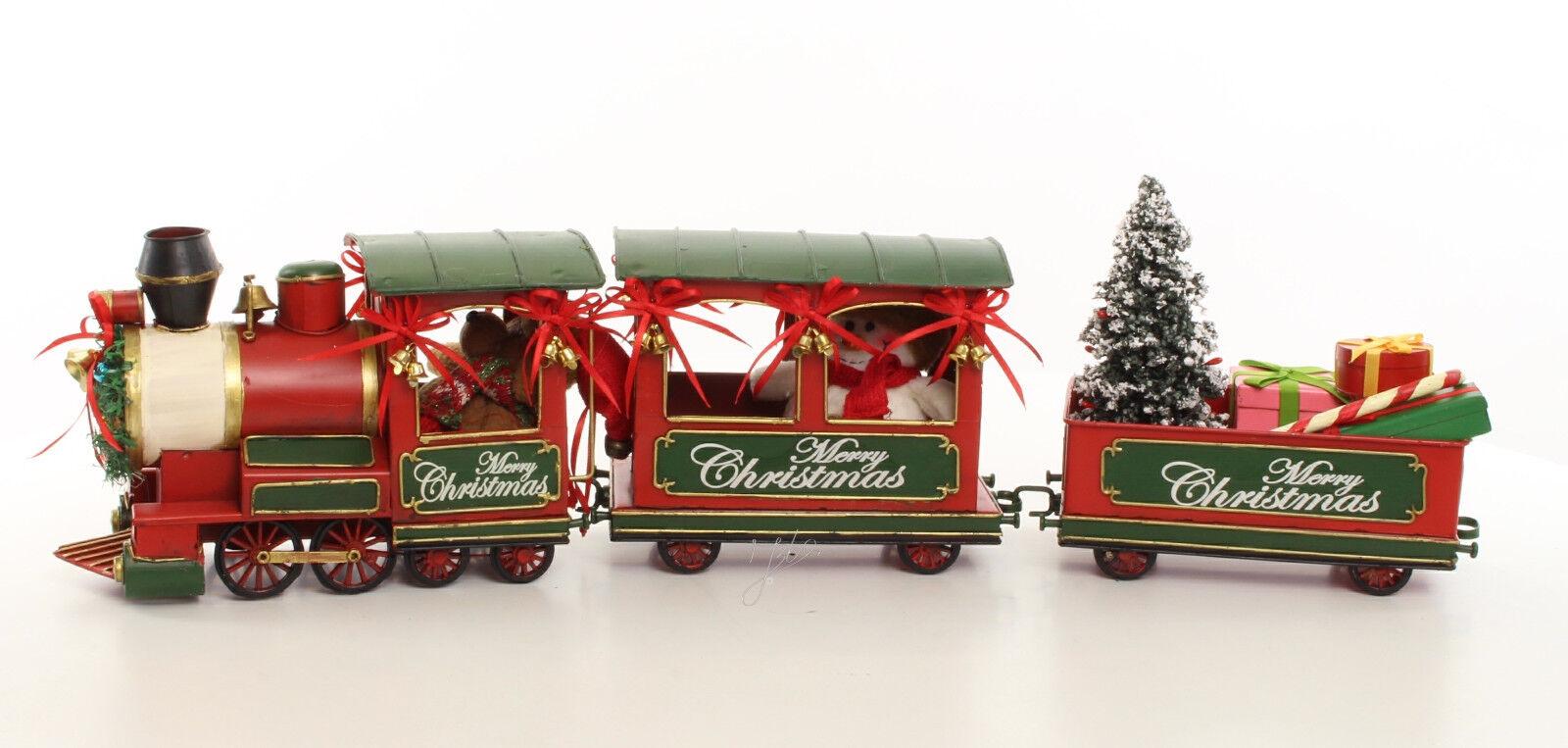 Nostalgie Weihnachtszug Eisenbahn Retro Merry Christmas Weihnachtsdeko Lok