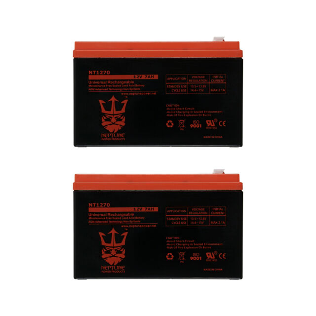 Razor 12 Volt 7Ah Electric Scooter Batteries Set of 2 Includes New Wiring Harness Instructions Included 6-DW-7 Beiter DC Power Brand High Capacity
