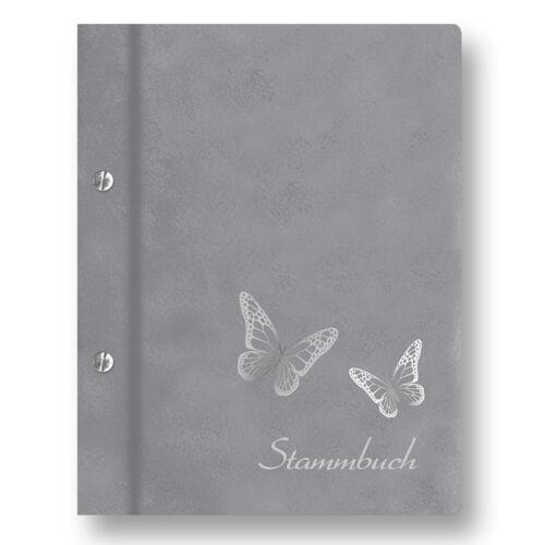 """Stammbuch der Familie /""""Butterfly/"""" A4 hellgrau Familienbuch Stammbücher Dokumente"""