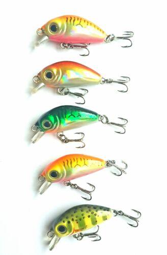 5x  MINI SINKING FISHING LURES 35mm 3g