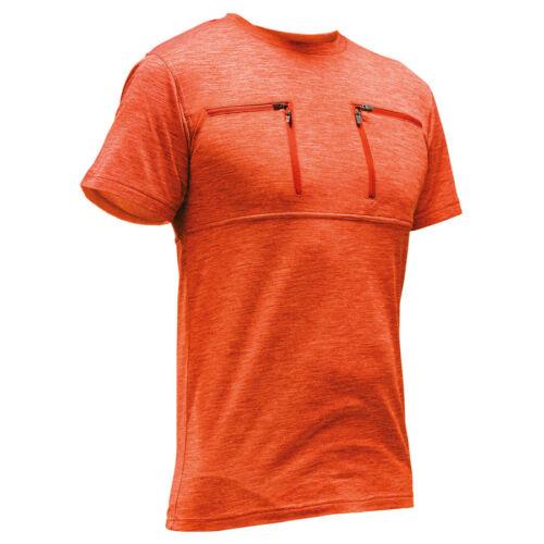 PFANNER Skin-Dry Thermo Zipp-2-Zipp Shirt orange kurzarm T-Shirt Funktionsshirt