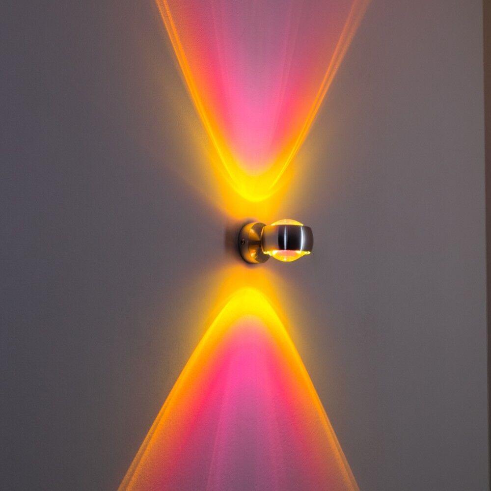 Aluminium Wandleuchte Küchen Strahler Wohn Zimmer Leuchten Flur Lampen magenta | Lebensecht